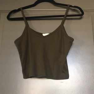 Bozzolo Olive Green Crop Top